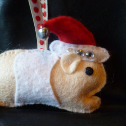 Guinea Pig felt tree decoration