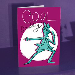 COOL DADDY, Card for Dad, Best Dad, Father's Day Card, Birthday Card for Dad