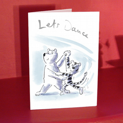 Let's Dance! Card for lover or girlfriend or boyfriend