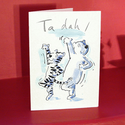 Ta dah! Tiger and bear card for a lover or a friend