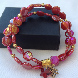 Bollywood Style Red Bracelet