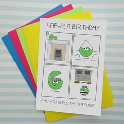 Guess the pea puns funny birthday card joke folksy guess the pea puns funny birthday card jokes game alternative card bookmarktalkfo Image collections