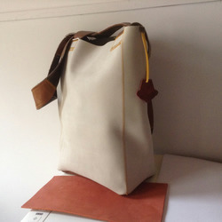 Hand Crafted Tote Bag in Nubuck Leather