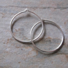 Sterling Silver 18mm Hoops