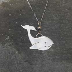 Whale Necklace in Sterling Silver