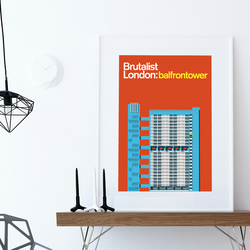 Brutalist London: Balfron Tower- Illustrated poster, Matte Print in A3 size.