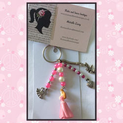 Pink princess bag charm