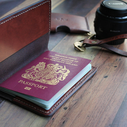 Slim Leather Passport Cover