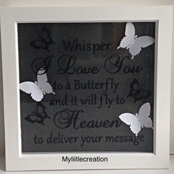 "Handmade memorial 3D  box frame, 8"" x 8"""
