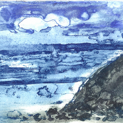 Seascape by Barbara Smith - photopolymer etching photographic