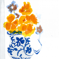 Pansies by Barbara Smith - screen print serigraph