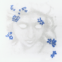 Forget-Me-Not (Petals) by Raj Sahota - screen print serigraph