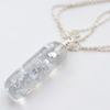 999 silver in resin small necklace on 925 sterling silver chain