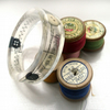 Recycled sewing pattern resin bangle (medium)