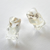 Gummy Teddy resin post earrings - Clear