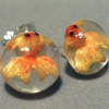 Goldfish stud post earrings