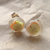 Tiny apple resin stud earrings