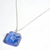 Recycled bubble wrap blue resin pendant