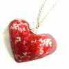 Sugar sprinkles resin heart pendant