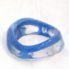 Blue asymmetric resin bangle (large)