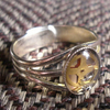 Captured time adjustable ring - small-medium fingers