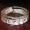SECONDS Tape measure resin bangle (medium)