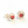 Tiny ladybird resin stud earrings