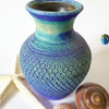 Ceramic Vase in Blue and Turquoise