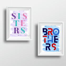Brothers -or- Sisters Art Print (unframed A4)