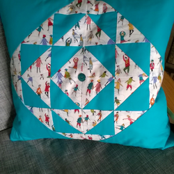 Winter Patchwork Cushion