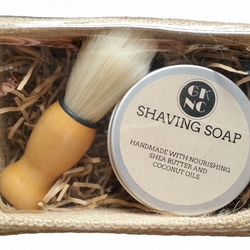 GK Natural Creations Shaving Set Unscented