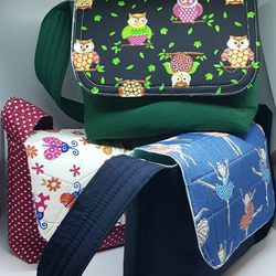 Child messenger bag, lunch bag, crossbody child's bag, shoulder bag, child's bag