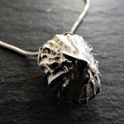 Limpet Pendant. Sterling Silver cast shell. Cornish beach.