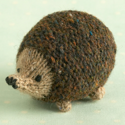 Knitting pattern for a little oddment hedgehog