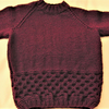 Children's Hand Knitted Jumper with a Honeycomb Pattern, Birthday Gift