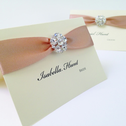 Cluster Crystal  Wedding Place Card