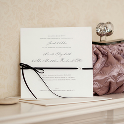 Eros Black Bow Wedding Invitation