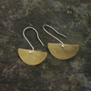 Brass Half Moon Dangle Earrings