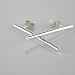 Round Bar Earrings