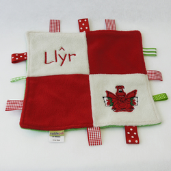 Personalised Welsh Dragon Comfort Blanket