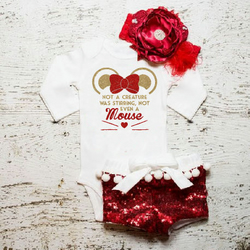 Baby Girl Clothes. Not Even A Mouse Bodysuit. Baby Girl Outfit