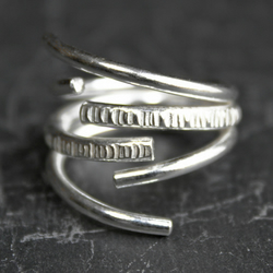 Triple Loose Wire, An Open Sterling Silver Ring