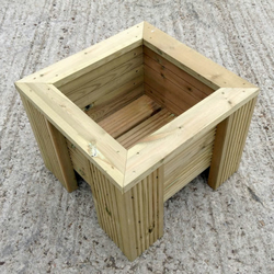 Premium Decking Wooden Garden Planter-Wood Trough Handmade Square Plant Box