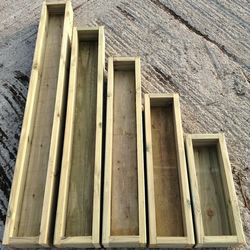 60cm Wooden Planter Decking Garden Planters 220mm W x 140mm H