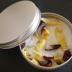 Rose Petal Bath Salts - 150g Tin