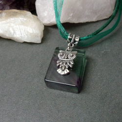 Fluorite and Owl Necklace