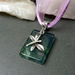 Fluorite and Butterfly Necklace