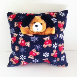 Christmas Teddy Bear Cushion