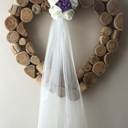 10 x lilac wedding pew ends