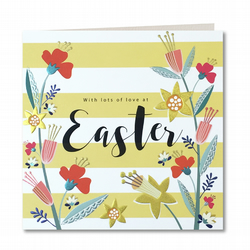 Contemporary Handmade Happy Easter Card By Laura Darrington Design